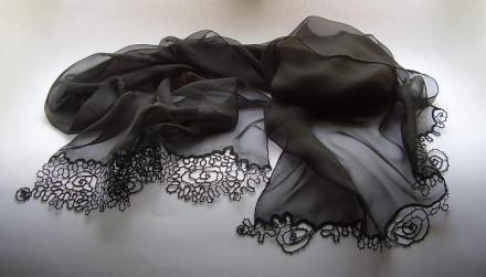 Idria lace scarf by Tina Koder
