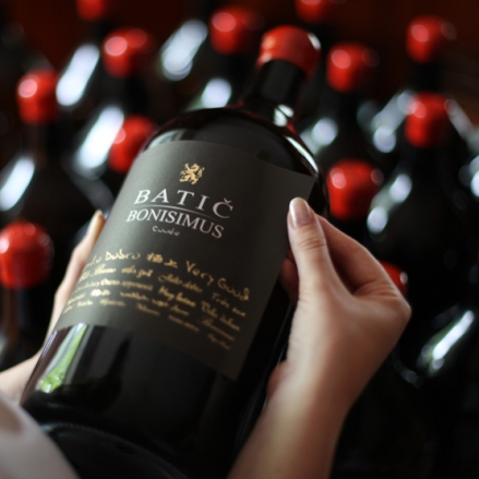 Bonimus wine by Batič winery. Photo: Archive Batič.