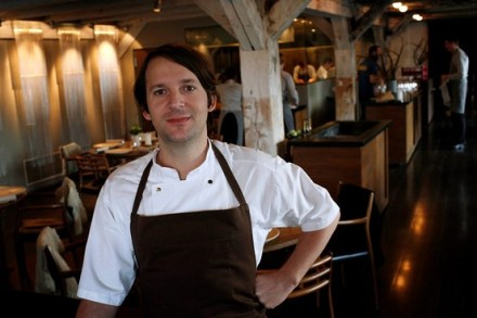 Chef René Redzepi at his restaurant Noma in Copenhagen in December 2009 (Photo by Reuters)