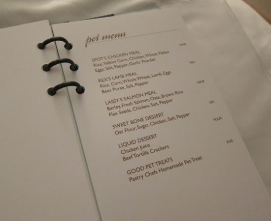 The Carlton Club Food Menu