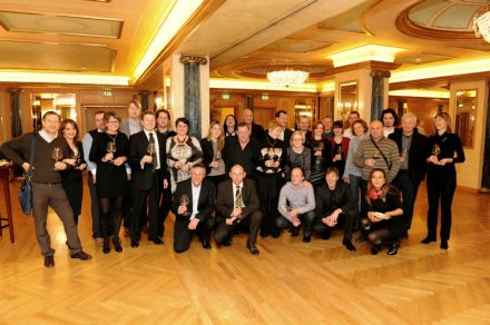 "Group of Slovenian winemakers at last ""Dalla Slovenia con amore"" in Milano this year"