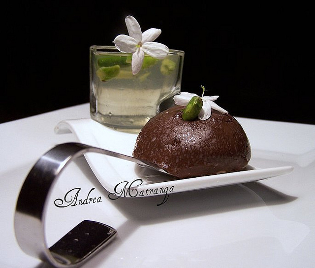 Chocolate sphere - a dessert dedicated to soul music