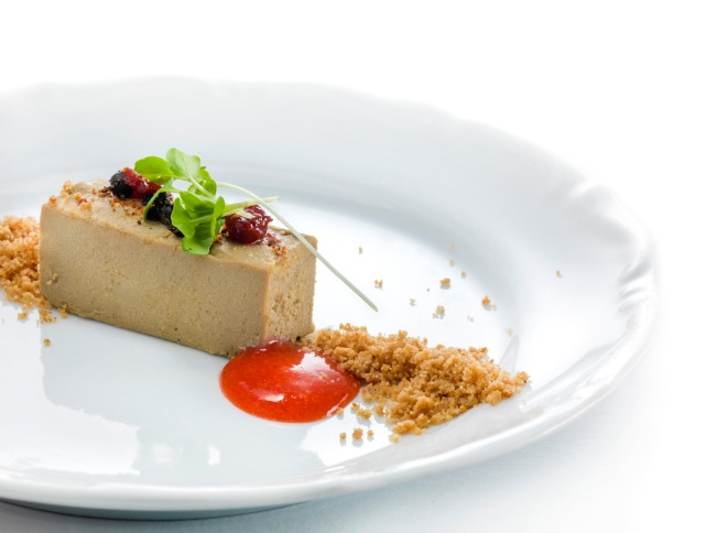 Terrine of billy goat liver with dry wild berries (Ana Roš) - Photo: Janez Pukšič