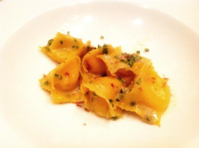 Delicious Carbonara Fagotelli was served with Sauvignon 2011, Ignaz Niedrist