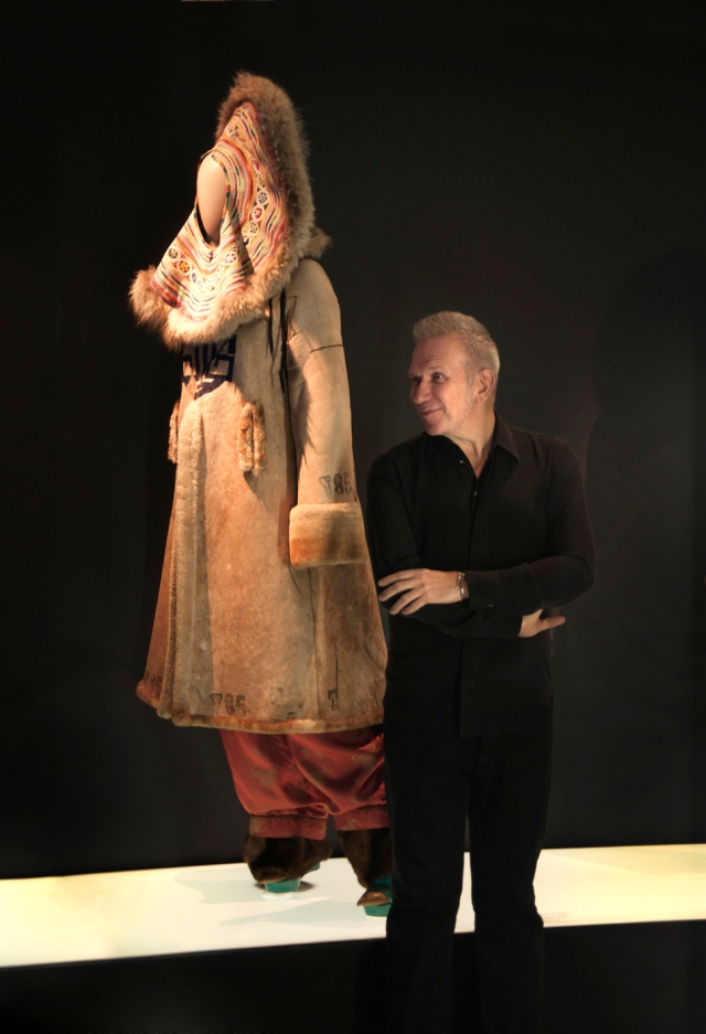 Jean Paul Gaultier with his creation. (Photo: Laura Lajh Prijatelj)