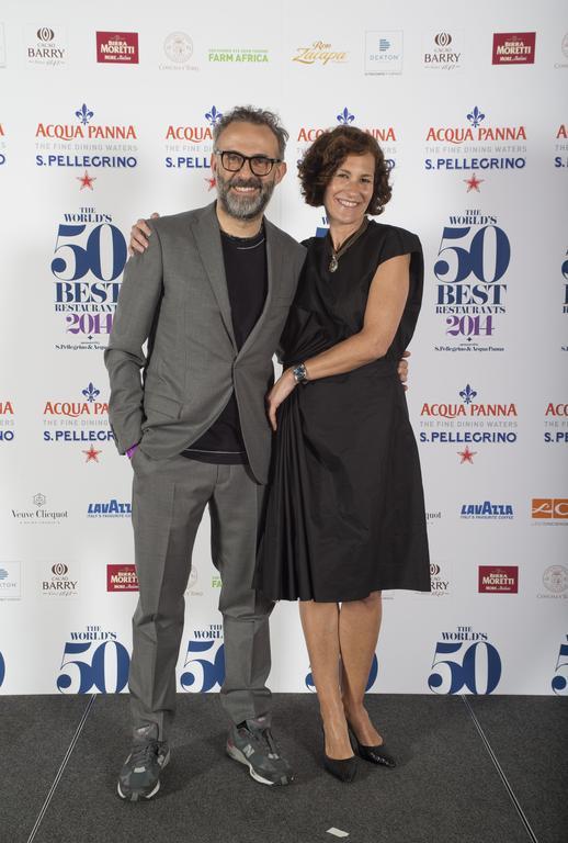 Massimo Bottura with his wife Lara